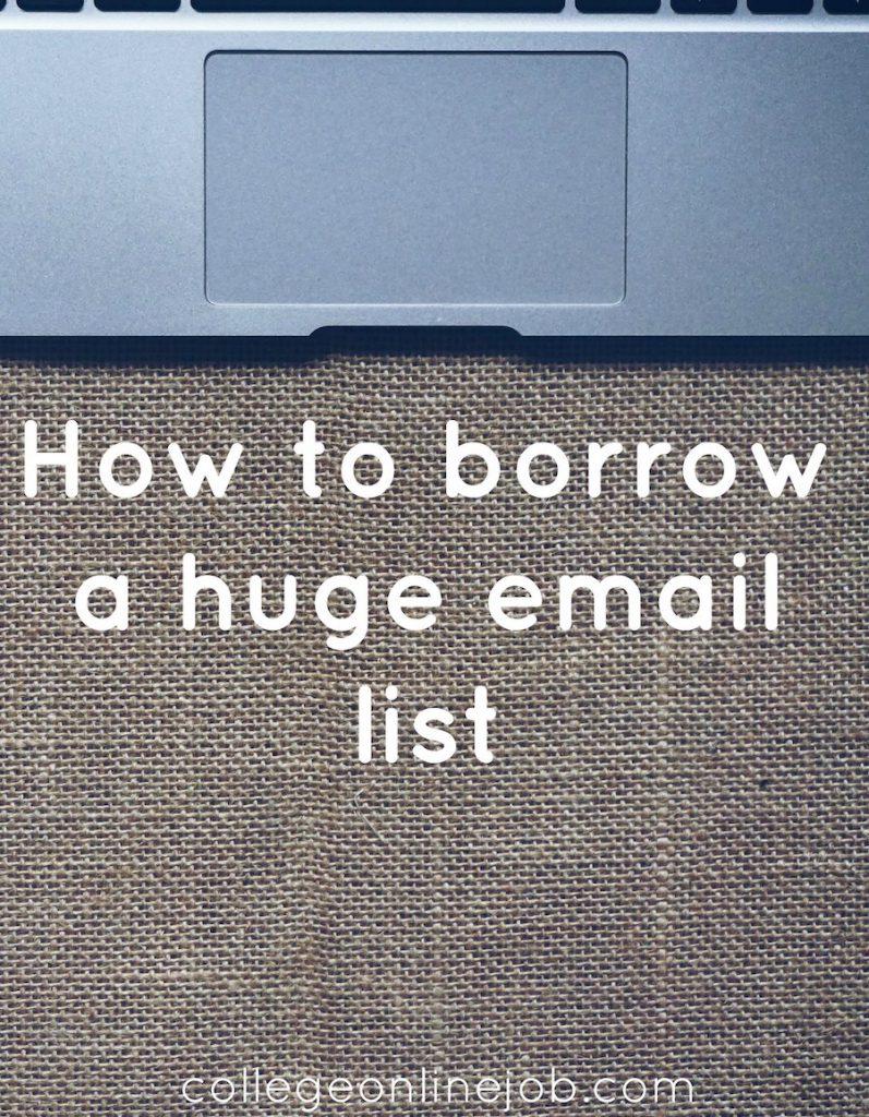 borrow email list