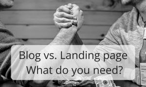blog vs landing page