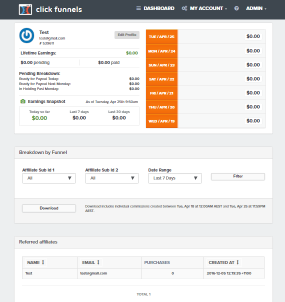 actionetics affiliate dashboard