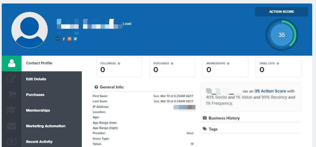 actionetics profile actionscore