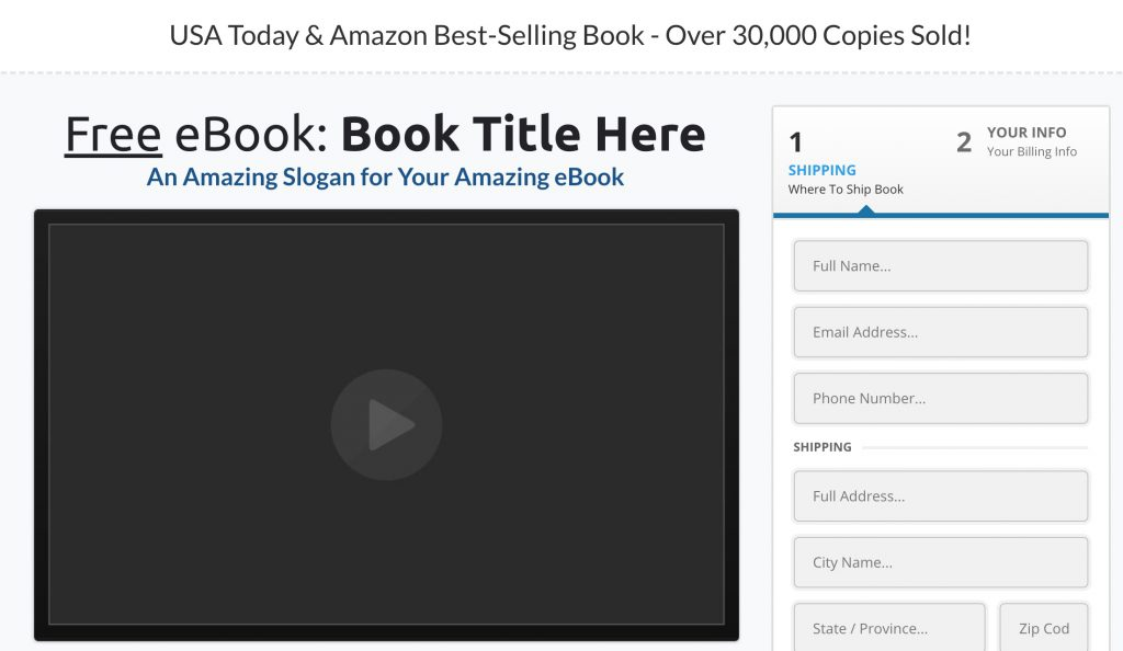 best selling book funnel optin