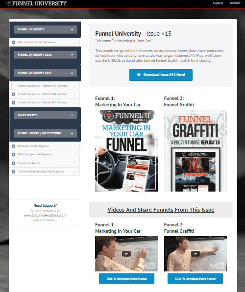 funnel university training
