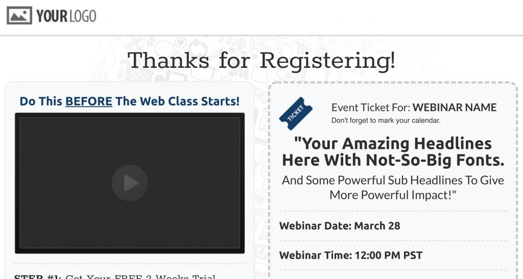perfect webinar funnel confirmation